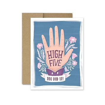 High Five- Congrats Card