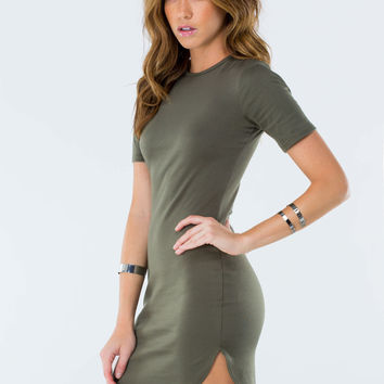 Fits To A Tee Round Hem Minidress