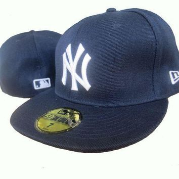 CREY8KY New York Yankees New Era MLB Authentic Collection 59FIFTY Hats Blue-White