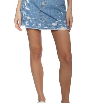 Flying Monkey HR Distressed Denim Skirt