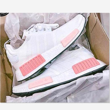 """""""Adidas"""" NMD Fashion Sneakers Trending Running Sports Shoes Whtie-pink"""