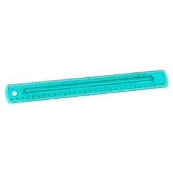 Plastic Ruler with Finger Grip 12""