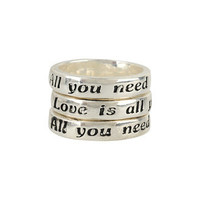 All You Need Is Love Ring Set