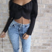 Corset Crop Top Black