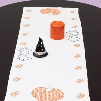 "Halloween Jack Dempsey Stamped Table Runner/Scarf 15""X42"""