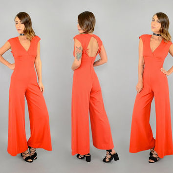 70's Disco Bell Bottom Jumpsuit