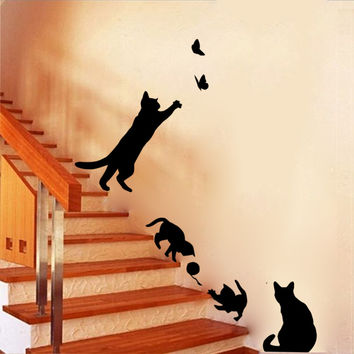 Cats at Play Wall Decals
