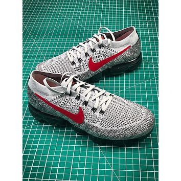 2018 Nike Air Vapormax Mesh Grey Red Sport Running Shoes