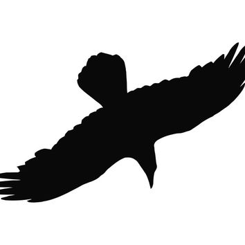 Crow Diving Silhouette Die Cut Vinyl Decal Sticker