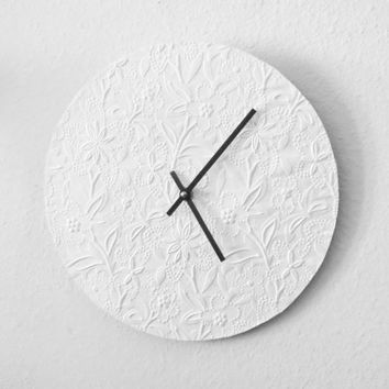 Wall Clock, Decor and Housewares, Minimalist Clock, White Wall Clock, Decor and Housewares, Home and Living,Unique Wedding Gift,