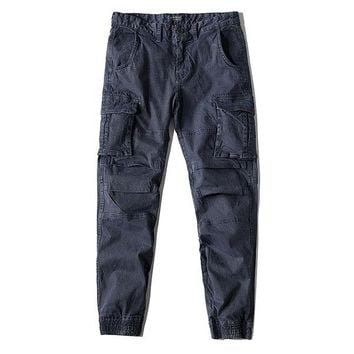 High-quality Casual Loose Cotton Cargo Pants
