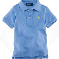 Polo Ralph Lauren Toddler Boys Classic Mesh Polo (2T, Light Blue)