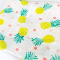 Organic Baby Muslin Swaddle - Pineapple