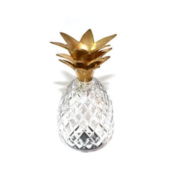 Pineapple Figurine Glass Pineapple Crystal Pineapple Figurine  Pineapple Statue Pineapple Bar Pineapples Ananas Pineapple Glass