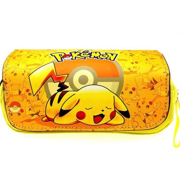 anime  pencil case bag cute makeup bag Pikachu school pencil case cosmetic bags Kawaii Pokemon go  AT_89_9