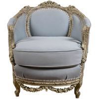 An Antique Swedish Painted Decorated Swan Arm Chair