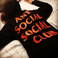 Anti Socail Socail Club 2 Colors Hoodies