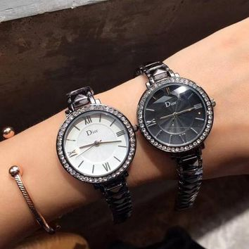 DIOR Women Fashion Quartz Movement Watch
