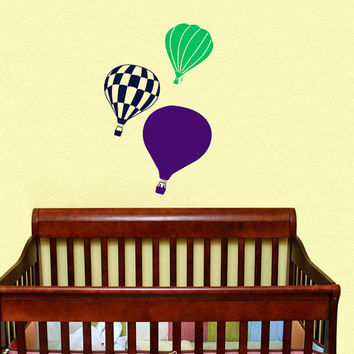 Housewares Hot air Balloons Wall Vinyl Decal Sticker Kids Nursery Baby Room Decor V298
