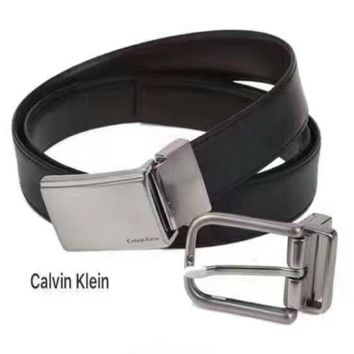 Calvin klein  Fashion Smooth Buckle Belt Leather Belt