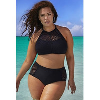 Plus Size Women Solid Sexy Bikini Sets Plus Size Swimsuit Swimwear Bathing Suits Tankinis  [8805233479]