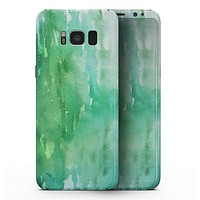 Green 2 Absorbed Watercolor Texture - Samsung Galaxy S8 Full-Body Skin Kit