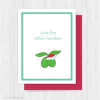 Funny Christmas Card Holiday Cards Cute Christmas Cards Handmade Greeting Reindeer Pun Happy Holidays Xmas Gifts Gift Ideas Friend Her Him