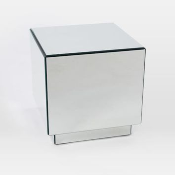 Geo Mirror Storage Side Table