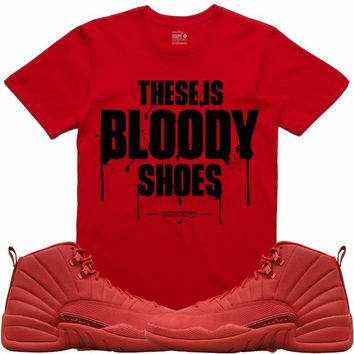 Jordan Retro 12 Gym Red Sneaker Tees Shirt - BLOODY SHOES RK