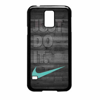 Nike Mint Just Do It Wooden Gray Samsung Galaxy S5 Case