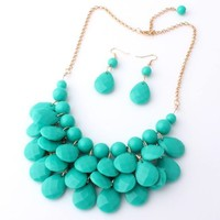 Make Me Gorgeous Statement Necklace & Earrings (Multiple Colors)