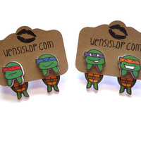 Teenage Mutant Ninja Turtles Inspired Cling Earring