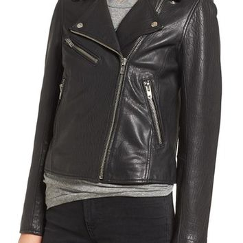 Current/Elliott Roadside Leather Moto Jacket | Nordstrom