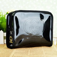 GUCCI New fashion letter couple waterproof cosmetic bag storage bag Black