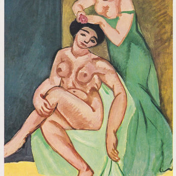 "Vintage German Postcard -- Henri Matisse ""The Toilet"" -- 1960s"