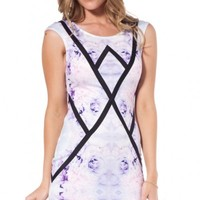 Crossing Over dress in purple print | SHOWPO Fashion Online Shopping