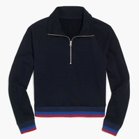 Half-zip jacket in sport stripe