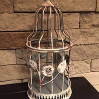 Shabby Chic Vintage Aged Bird Cage SHIPS FROM USA Candle Holder Potpourri Holder Accent Decor