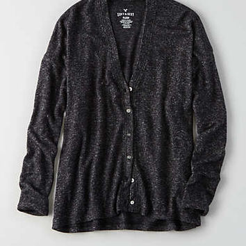 AEO Soft & Sexy Plush Cardigan , Charcoal