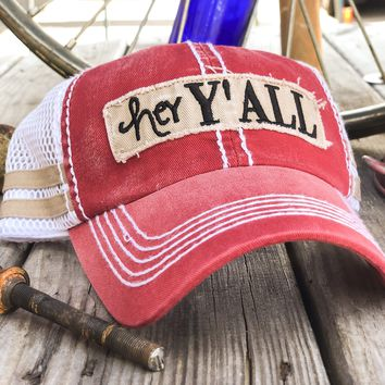 Hey Y'all Mesh Women's Vintage Hat