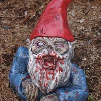 Zombie Garden Gnome Rising Dead by dougfx on Etsy