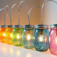 Mason Jar Banner Lighting Fixture