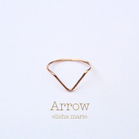 Arrow Chevron Ring in Gold Fill