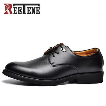 Men Dress Shoes Soft Pointed Toe Classic Fashion Business Oxford Shoes For Men New Men Leather Shoes