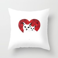 Cats in love Throw Pillow by Sagacious Design