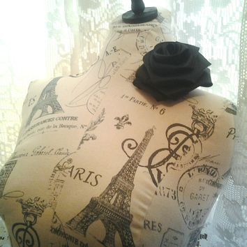 Boutique Dress form designs to the waist. Life size torso great for store front or home decor. Paris Bust form.