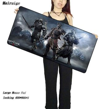 Mairuige Shop Witcher 3 Mouse Pad 900*400*2mm Speed Locking Edge Keyboards Mat Rubber Gaming Mousepad Desk Mat for Cs Go DOTA2