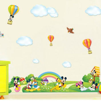 Cartoon paradise of children room decorate on household decorates a wall to stick on the wall SM6