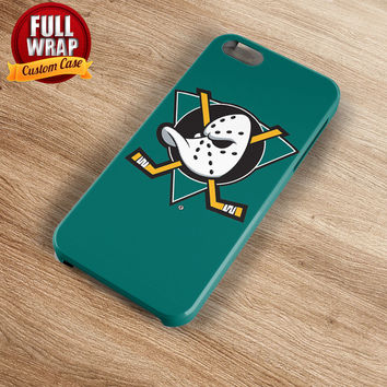 Anaheim Ducks Green Logo HockeyTeam Full Wrap Phone Case For iPhone, iPod, Samsung, Sony, HTC, Nexus, LG, and Blackberry
