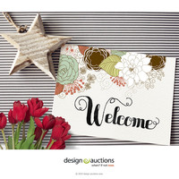 Printable Welcome sign wedding signs design floral wedding invite design wedding signage wedding reception design DIY wedding design